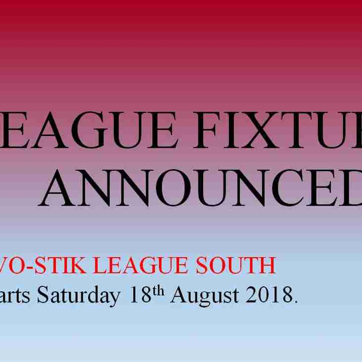 League Fixtures -UPDATED