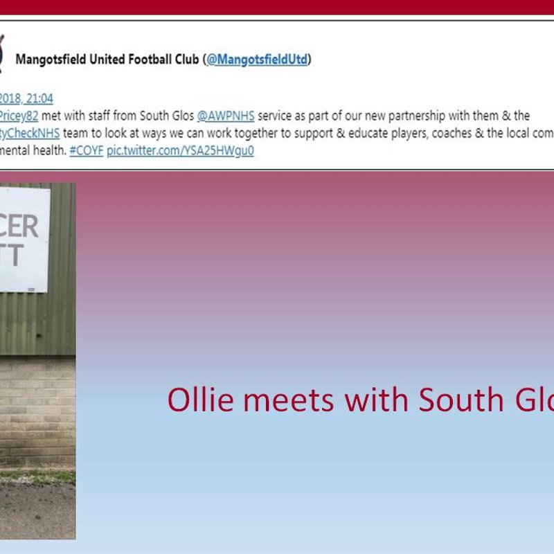Ollie meets with South Glos at Cossham Street