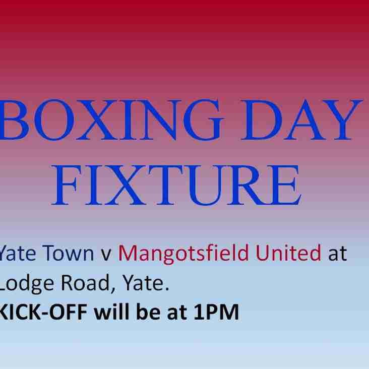 Boxing Day Fixture