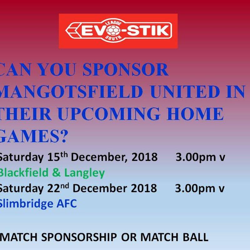 Matchday sponsorship