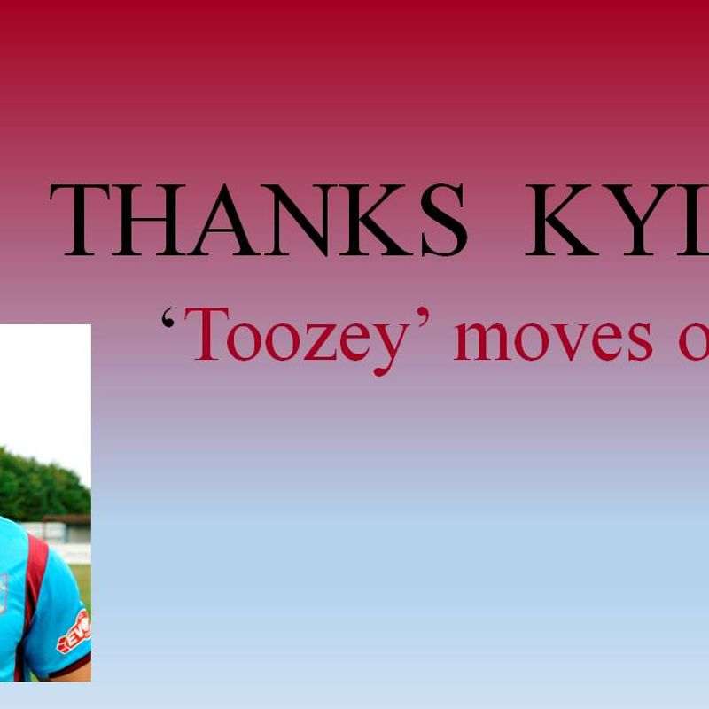 Kyle Tooze set to leave club