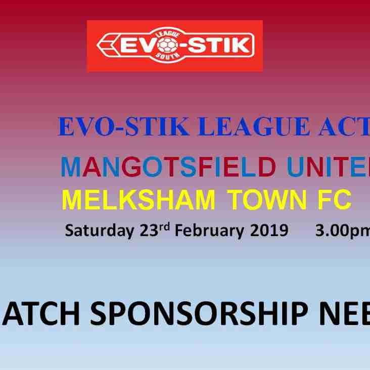 Match Sponsorship Needed