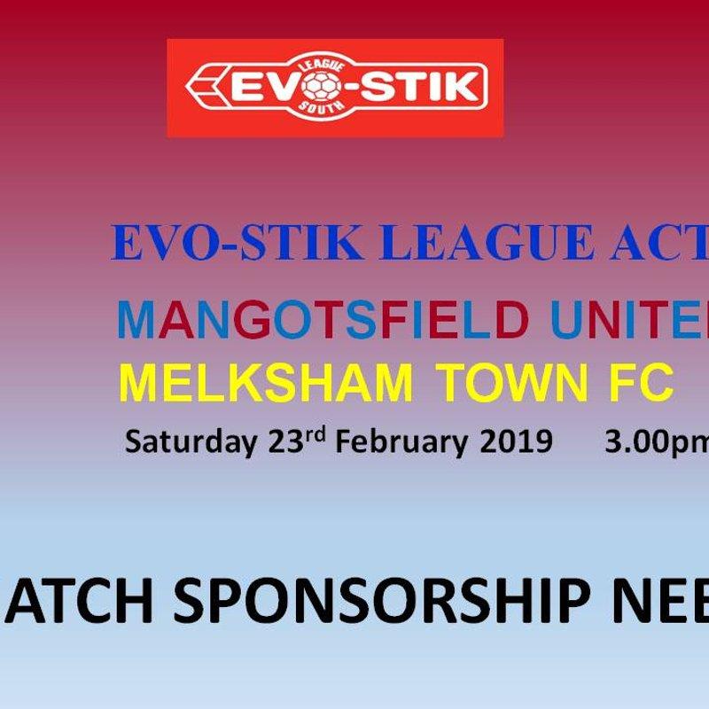 Match Sponsorship Needed