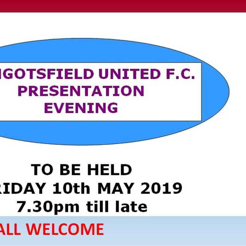 Mangotsfield Presentation Evening - A Reminder