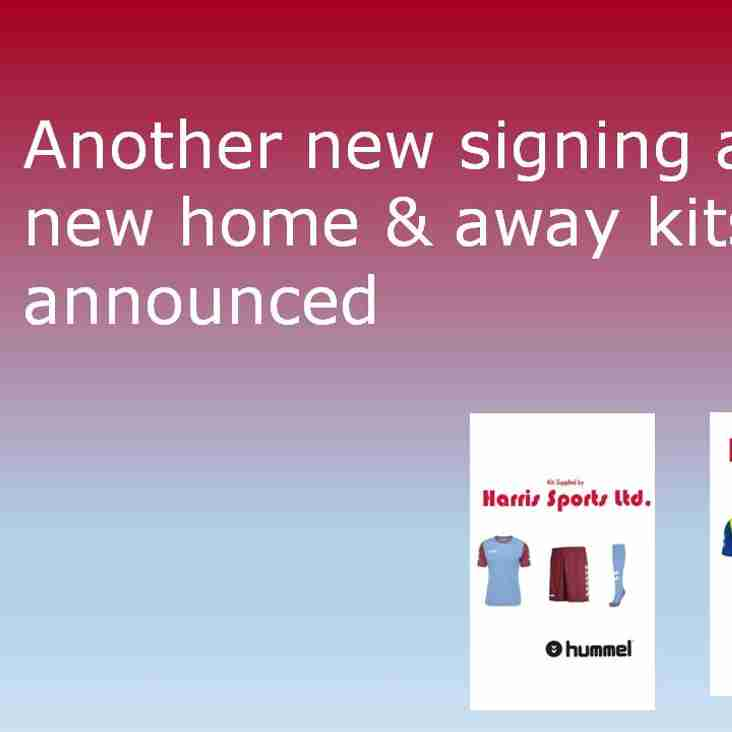New kits announced and another signing