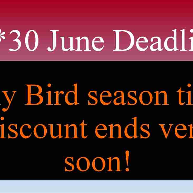 June 30th Deadline looms