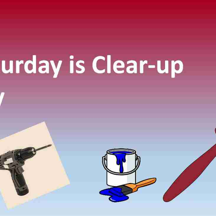 Saturday is clear-up day!