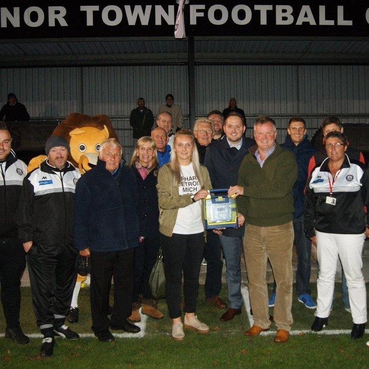 Heanor Town FC receive generous donation<