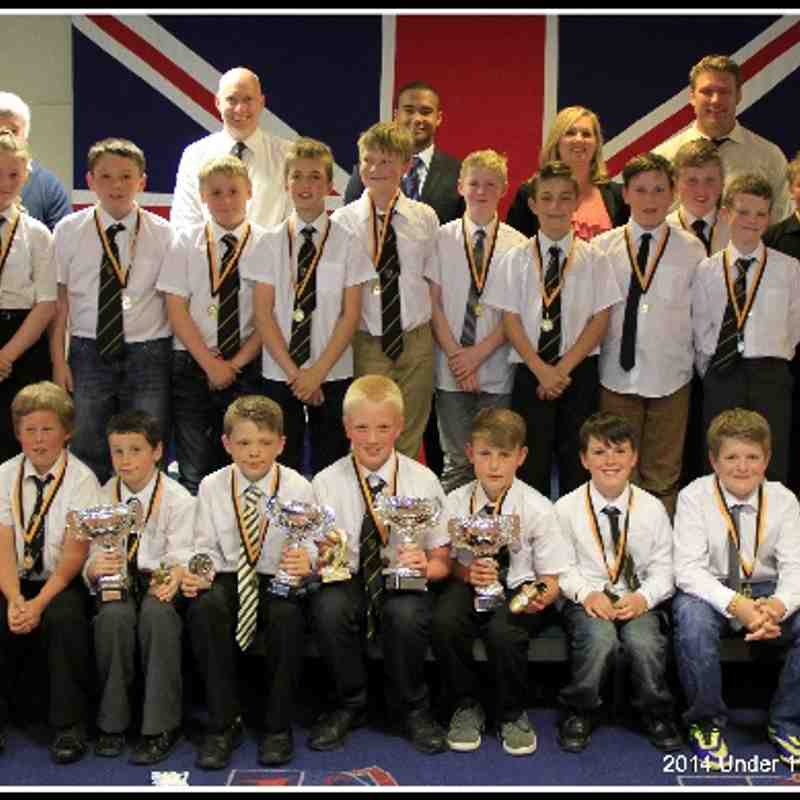 Under 11s Presentation Afternoon 11th May 2014.