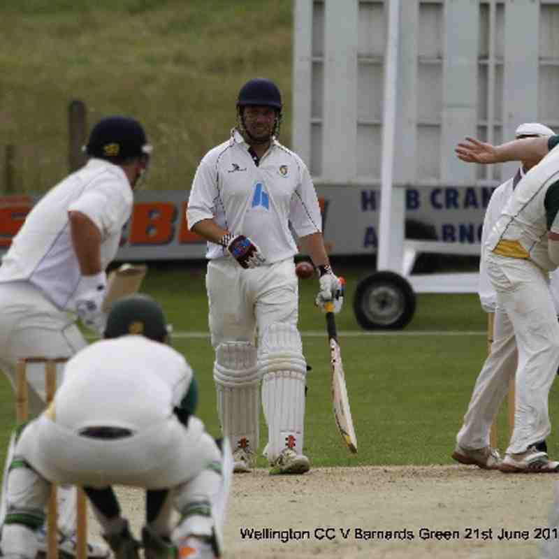 Wellington CC V Barnards Green 21st June 2014