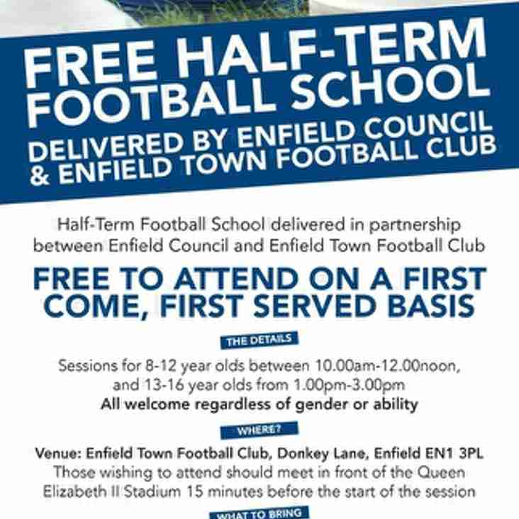 Free half term football school