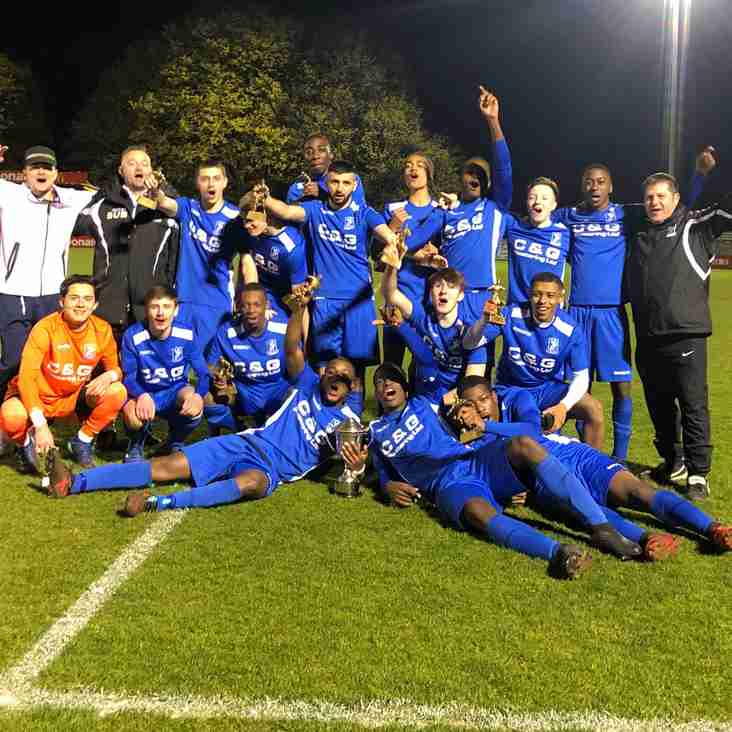 League and cup double for Under 18s!