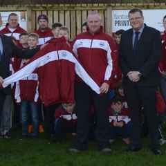 New tracksuit tops for the Lads.