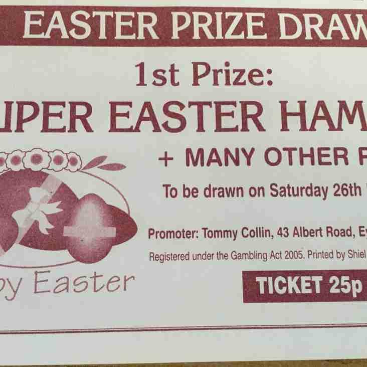 Easter Raffle Prize Winners.