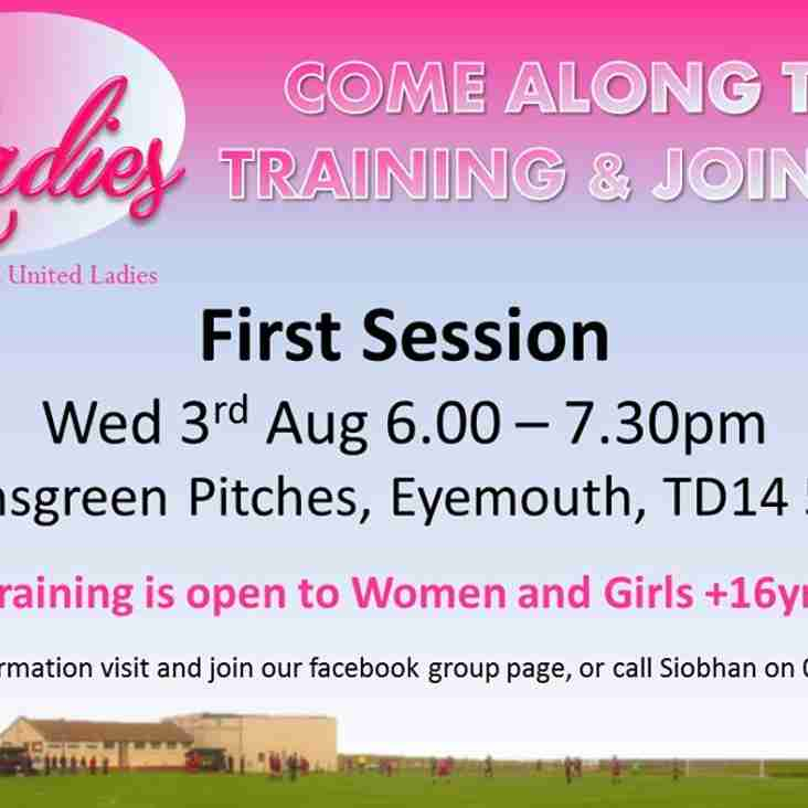 EUFC Ladies First Training Session