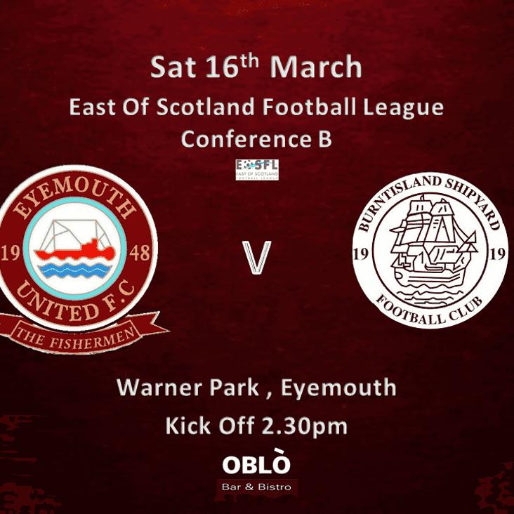 Eyemouth United v Burntisland Shipyard