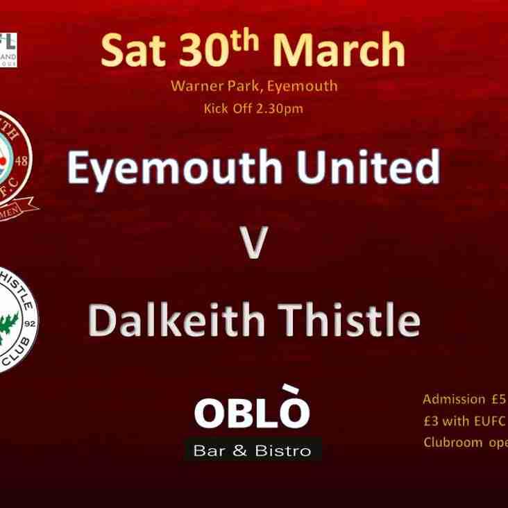 Eyemouth United Vs Dalkeith Thistle