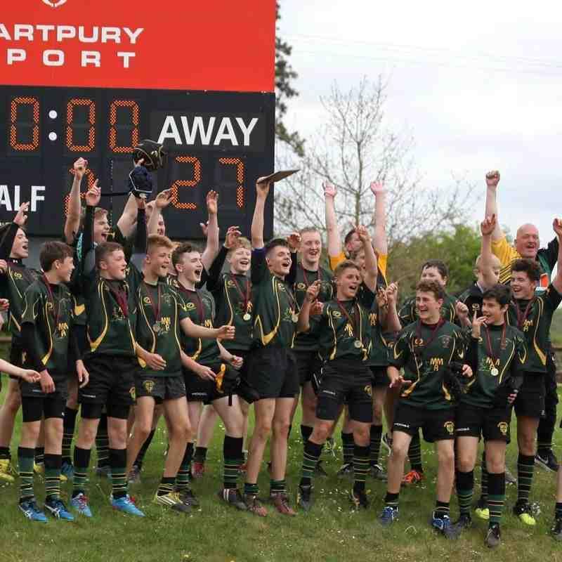 FCRFC U14 2016/17 GRFU Plate Winners