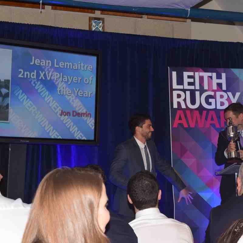 Leith Rugby Awards Night 2016