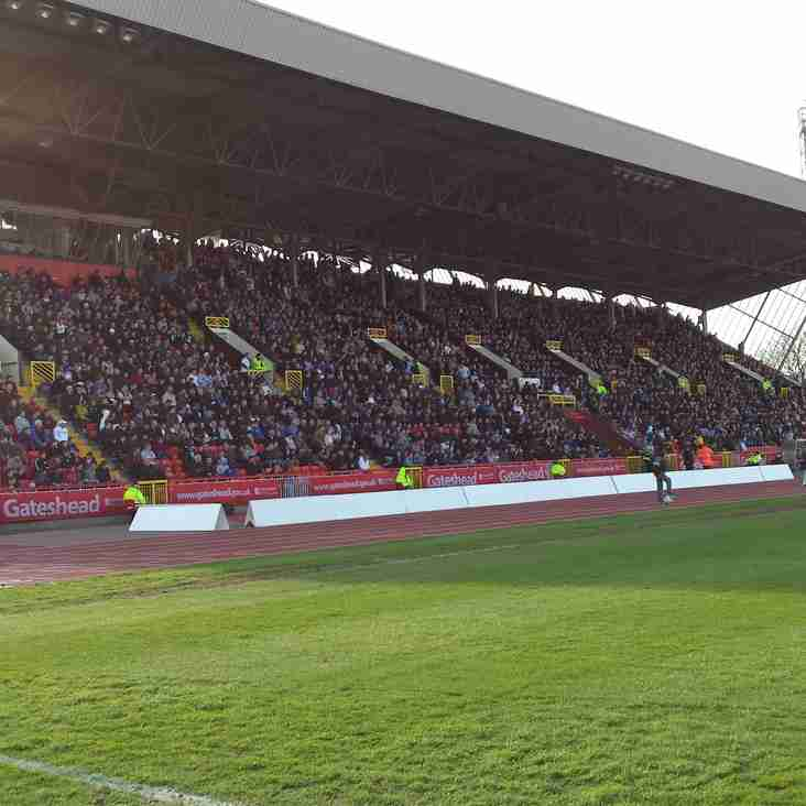 Gateshead FA Cup: Important Supporter Information
