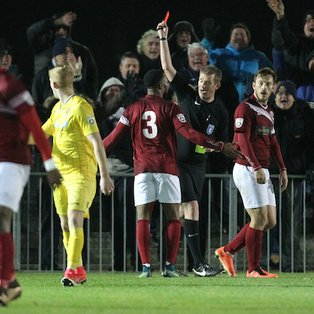 Ten-man Clarets exit FA Trophy