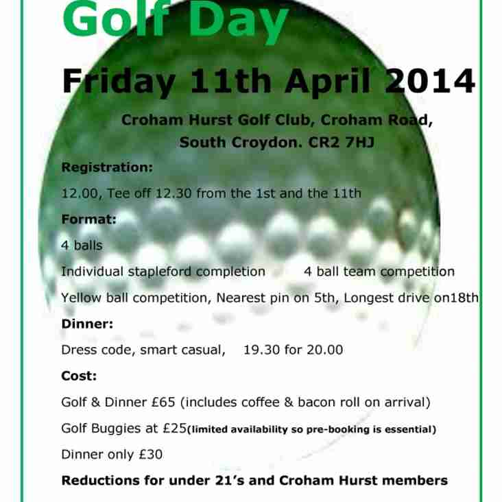 Purley Golf Day - Friday 11th April
