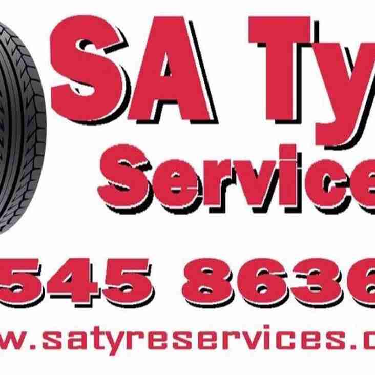 SA Tyre Services proud team wear sponsor of Newton storm u12s