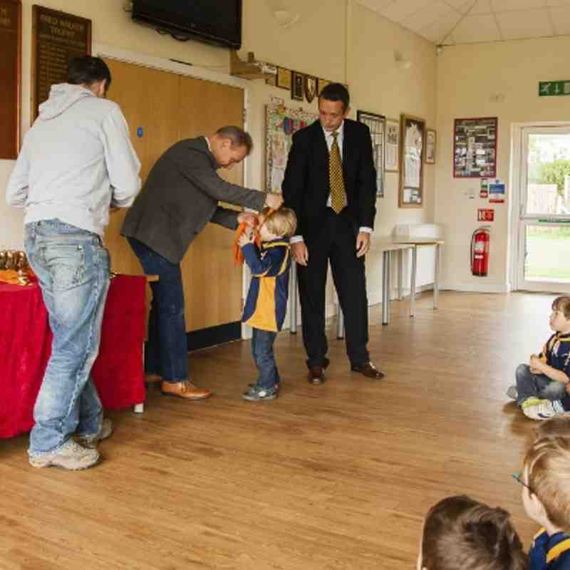 ERRFC Medal Ceremony 27-4-2014 pt2 - Under 6s