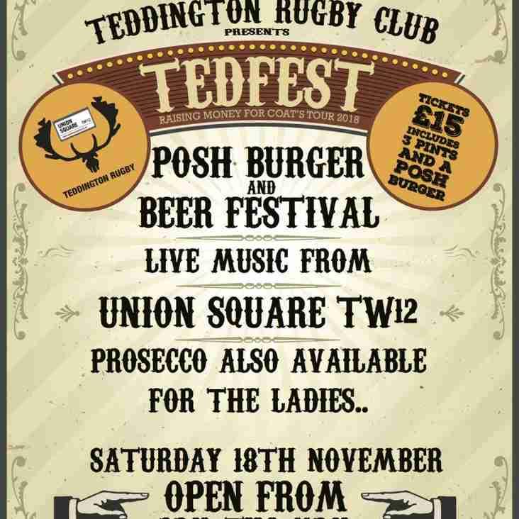 TedFest Beer Festival - THIS SATURDAY!!!!