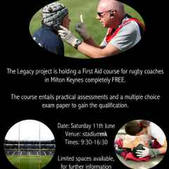 FREE Rugby First Aid Course