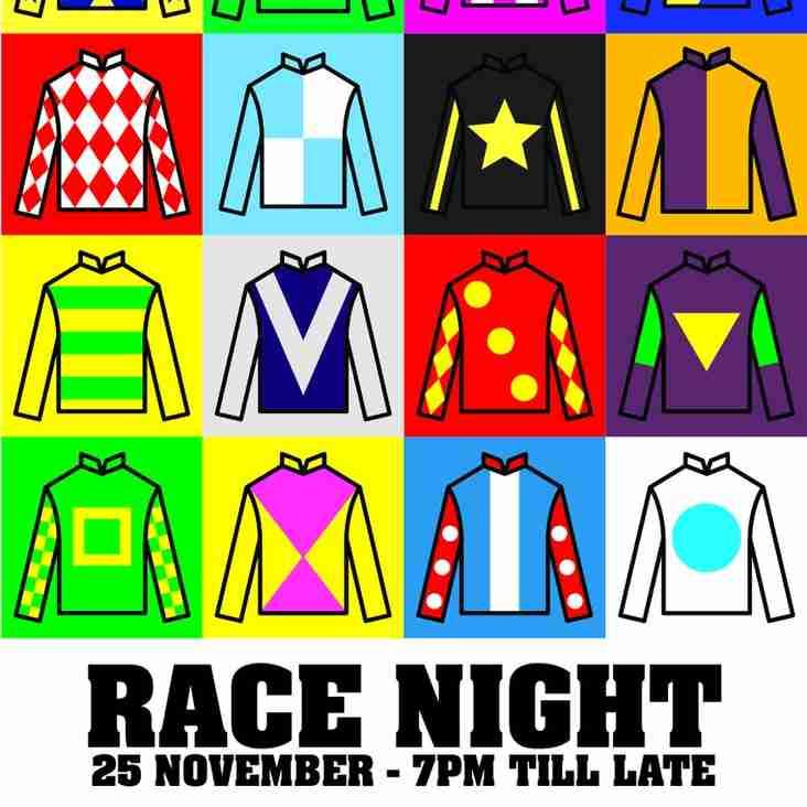 Race Night on Saturday 25th November