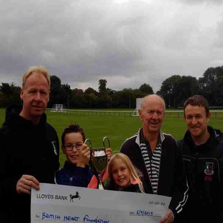 Over £1000 raised for charity at The Carter Cup