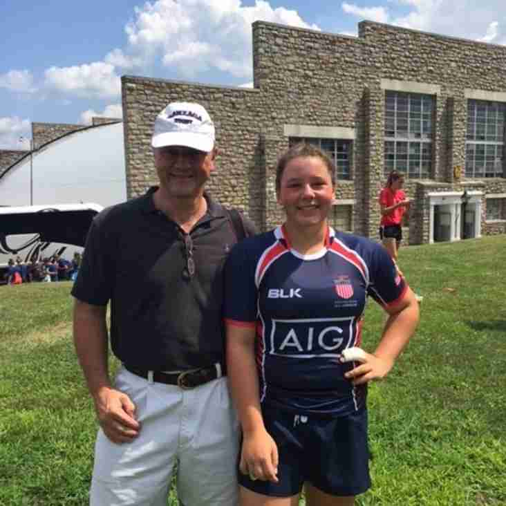 1st Barnes lady wins international cap