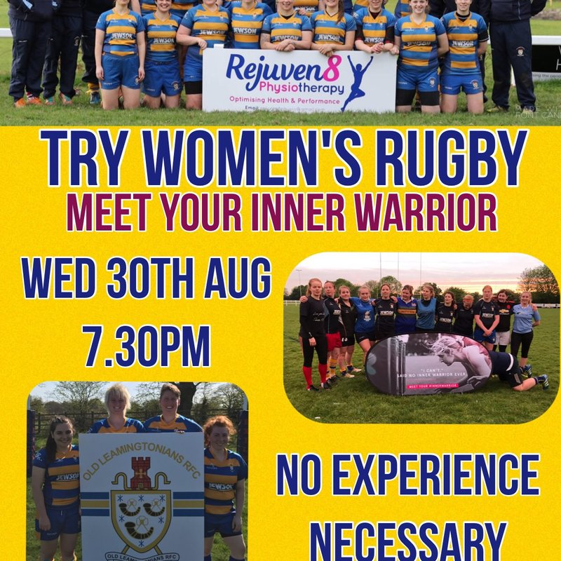 Try Women's Rugby @ OLRFC Inner Warrior  Training Camp!