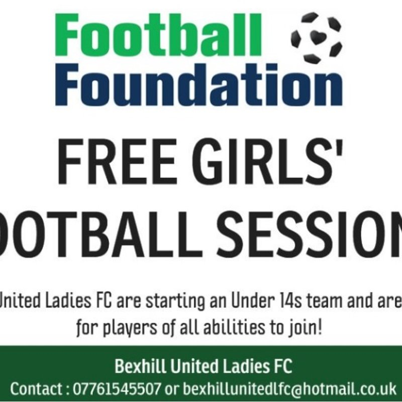 March 2017 - Free girls football sessions continue