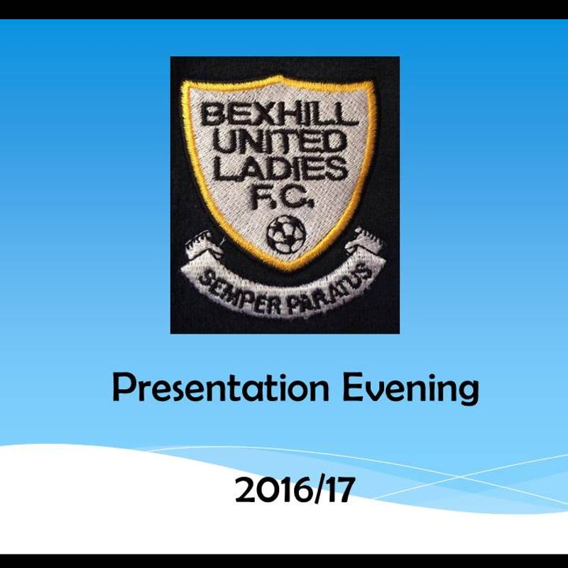 17th June 2017 - Presentation Evening for 2016/17