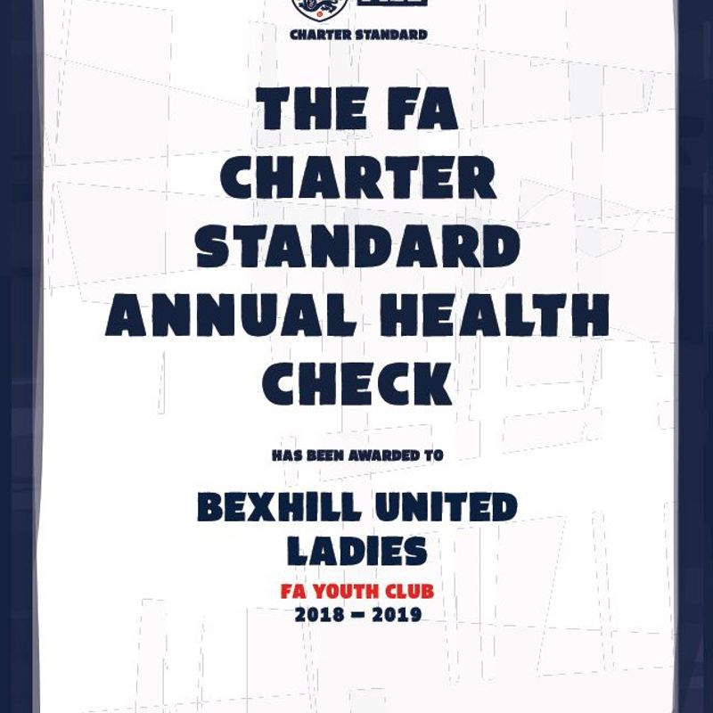 Charter Standard Status retained