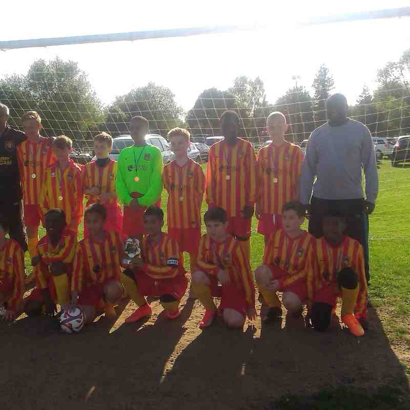 U12 Reds Plate winners! At Kislingbury Tournament June 7th 2015