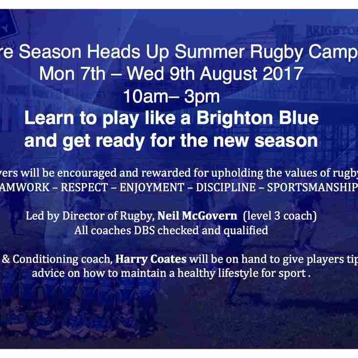 Brighton Blues Summer Rugby Camp