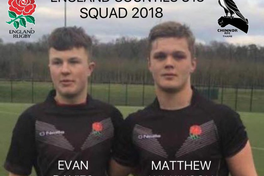 Chinnor players named in England Counties U18 Squad