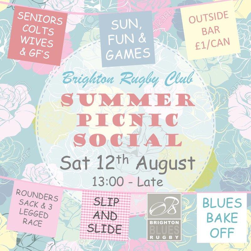Summer Social Sat Aug 12th 13:00 onwards