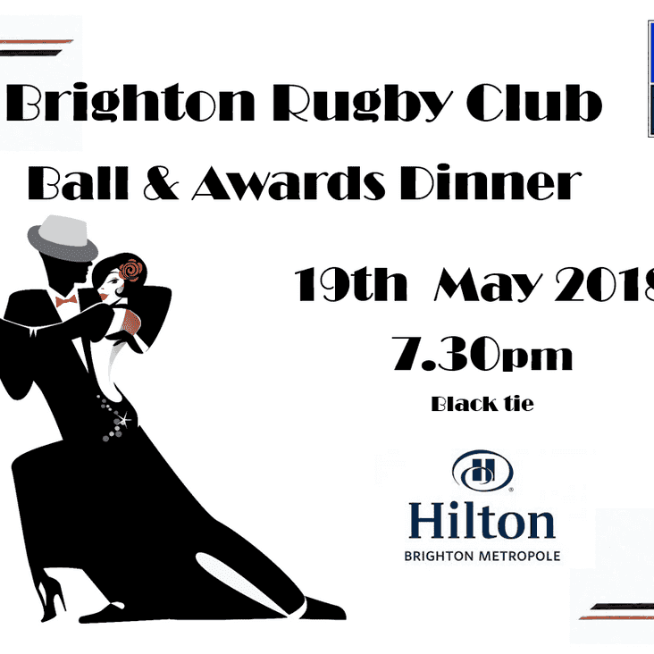 Brighton Ball & Awards Dinner 19th May 2018