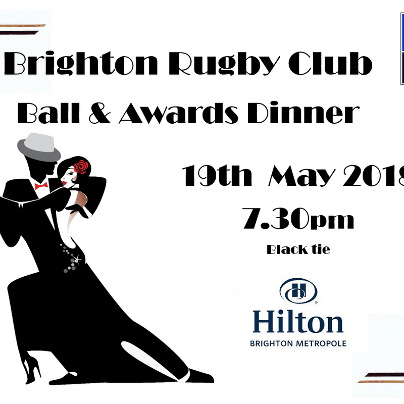 Brighton Ball & Awards Dinner 19th May 2018