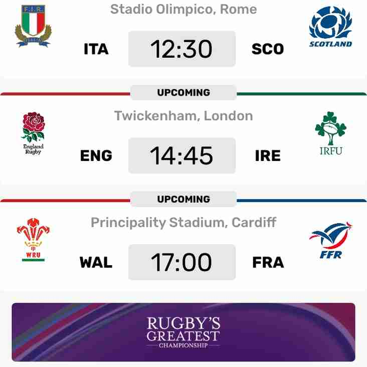 Watch the 6 Nations Final Weekend at Brighton Rugby Club