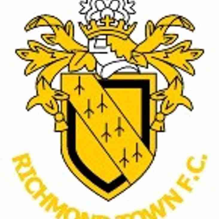 Harton & Westoe CW FC v Richmond Town FC, Wednesday 18th, kick off 7.30pm