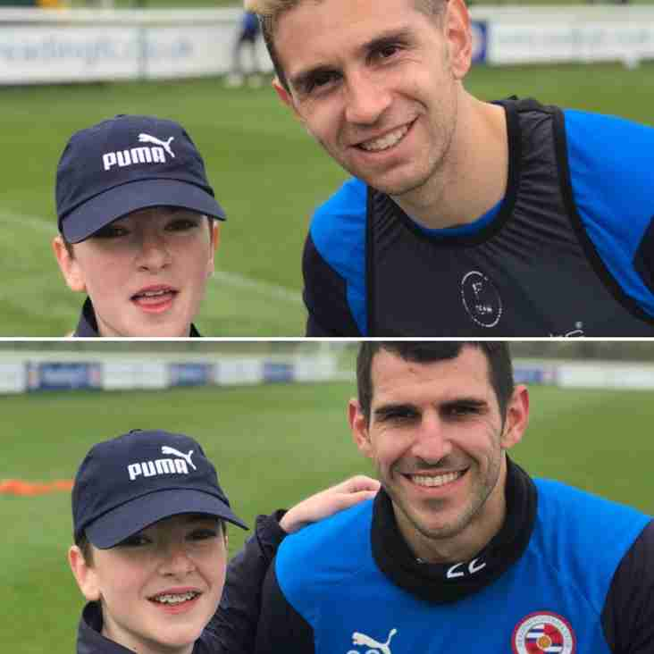 Ryan U14 Colts meets Reading FC players