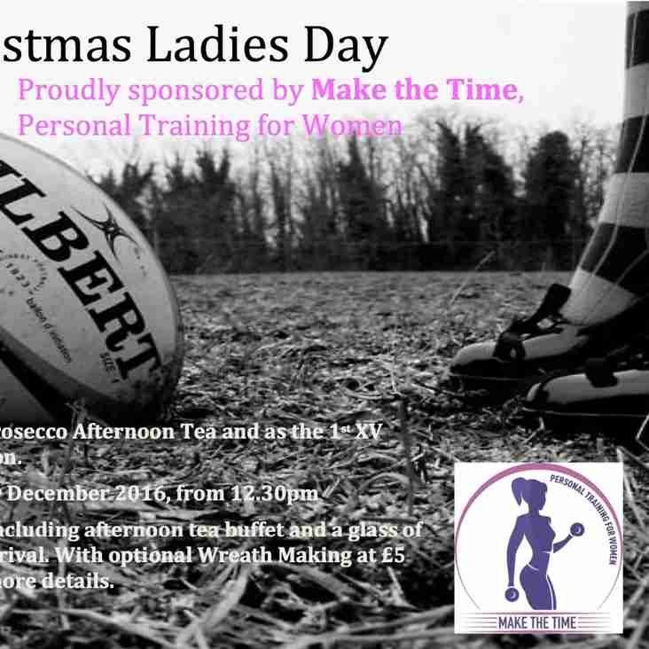 Christmas Ladies Day - Saturday 10th December - 12.30pm