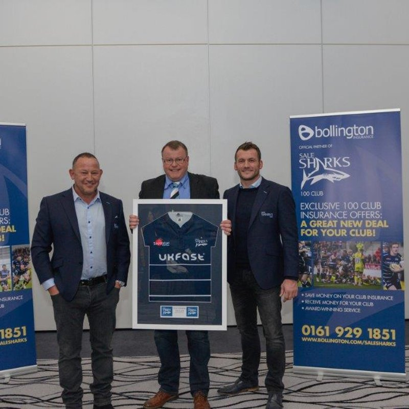 Shirt Exchange with Sale Sharks and 100 Club Membership