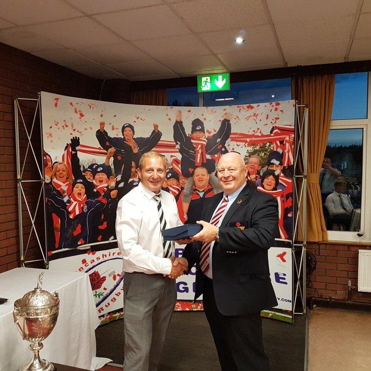 Paul Grainge Awarded Groundsman of the Year 2017 by Lancashire RFU<