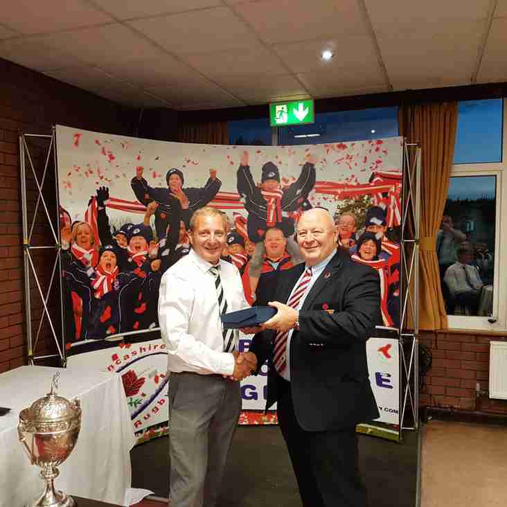 Paul Grainge Awarded Groundsman of the Year 2017 by Lancashire RFU